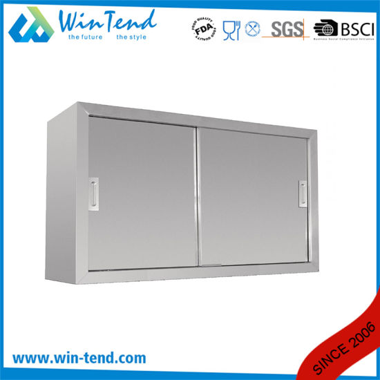 Stainless Steel Kitchen Wall Mounted Sink Cabinet with Push Door pictures & photos