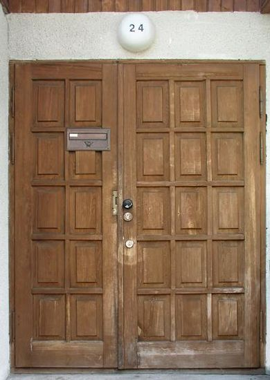 Bm Trada Solid Wood Fire Door with UL Certified pictures & photos