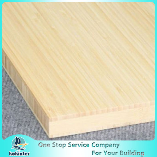 Vertical Single Ply 3mm Natural Edge Grain Bamboo Board for Furniture/Worktop/Floor/Skateboard pictures & photos