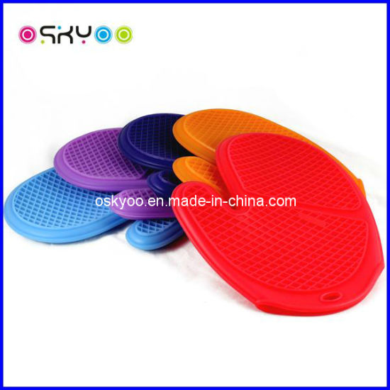 Heat Resistant Silicone Gloves for Cookware Holde (SK9602)