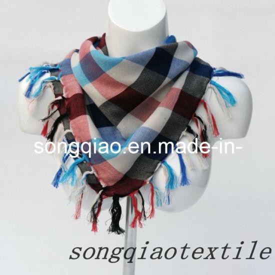 100% Cotton Silk Scarf -Yarn Dyed Shawl for Women/Men