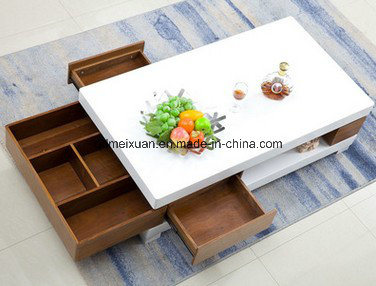 Contracted Tea Table Scalable TV Ark Combination Fashionable Sitting Room Of The Lacquer That Bake Glass Bookshelf M X3299