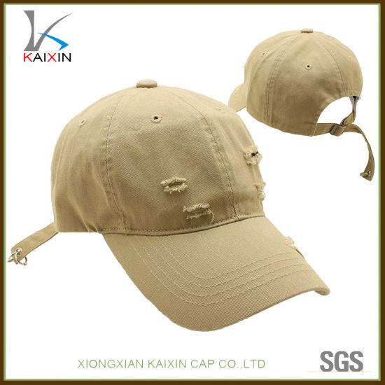 China New Design Distressed Washed Plain Blank Baseball Cap - China ... 91a524692ac7