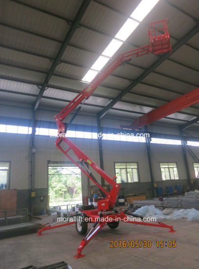 CE Certificates Battery Trailing Hydraulic Boom Lift pictures & photos