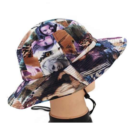 afd13fbb360 China Custom Promotional Floral Printing Bucket Cap Fishing Hat with ...