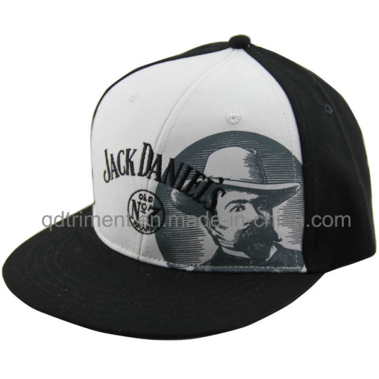 3b0e7bd904347 Flat Bill Screen Print Embroidery Baseball Snapback Cap (TMFL7317-2)  pictures   photos