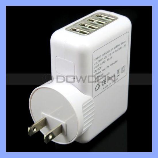 5V 3.1A AC Power Adapter Mobile Universal 4 USB Port Wall Change Us EU UK Head Charger