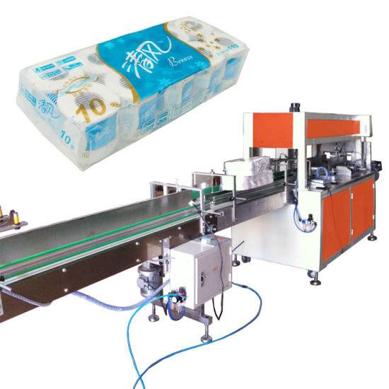 Auto Single Head Toilet Roll Bundling Packing Machine pictures & photos
