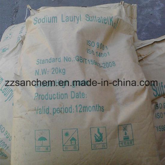 China Sodium Lauryl Sulfate 92 94 95 Needle Form China Sodium