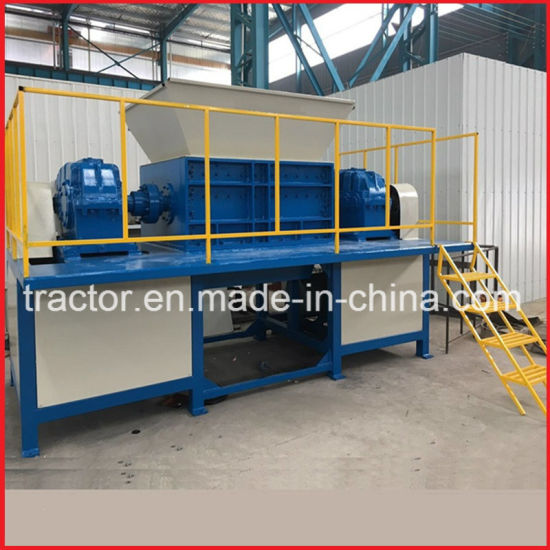 Double Shaft Waste Rubber/Used Tyre Cutting Machine