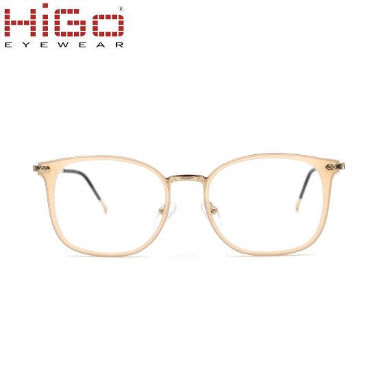 Wenzhou Higo 2018 Acetate Wholesale Eyeglasses with Metal Temple Frames