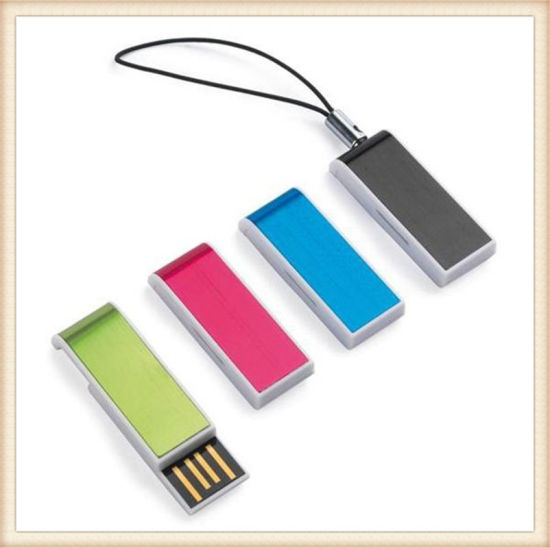 Mini Pink Slide USB Flash Drive Stick for Laptop (EP033) pictures & photos