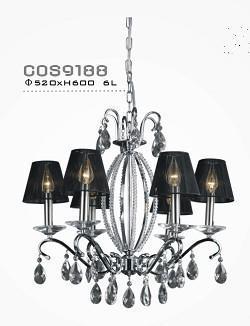 Household Bedroom Modern Lampshade Chandeliers