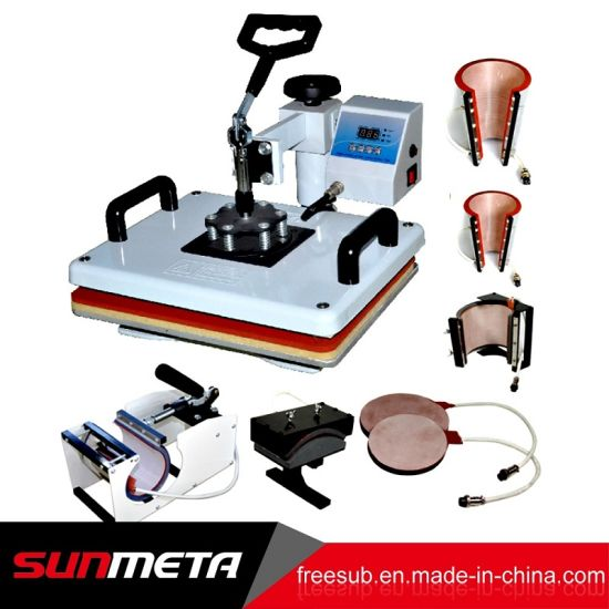 8 in 1 Sublimation Mug T-Shirt Heat Press Transfer Printing Machine for Sales