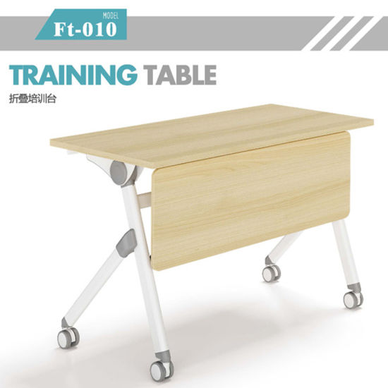 Flip Up Table Top Study Desk For Student Training Course With Movable Leg
