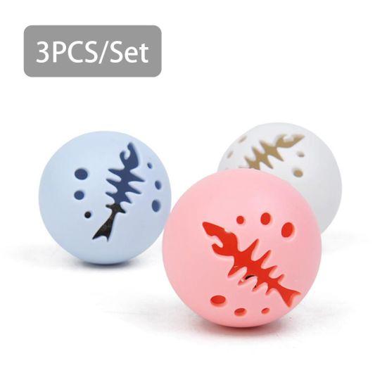 3pcs Cat Ball Toy Catnip Bell Ball Flash Light Ball Pet Supplies
