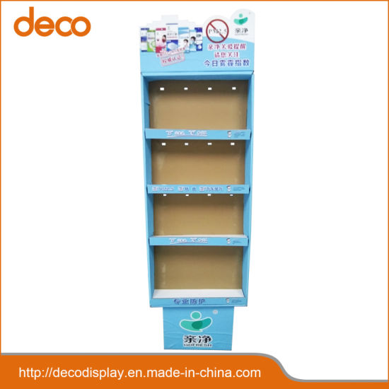 Recycled Durable Cardboard Banner Stand Display Shelf