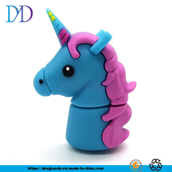 PVC Cartoon U Disk 8g16g32g64G Unicorn Soft Plastic Customization