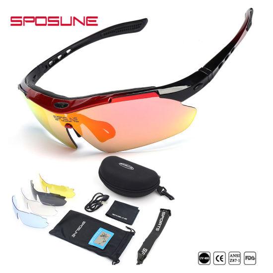3cdc881425f First Quality Polarized Custom Logo Sports Sunglasses Interchangeable Arms  Anti UV400 Riding Running Climbing Cycling Sunglasses