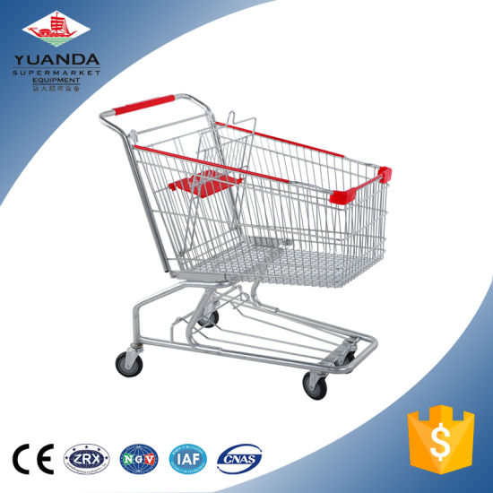 American Folding Supermarket Metal Wire Grocery Shopping Cart Trolley