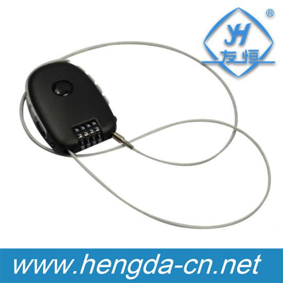 Retractable Flexible Wire Combination Cable Lock (YH9933)