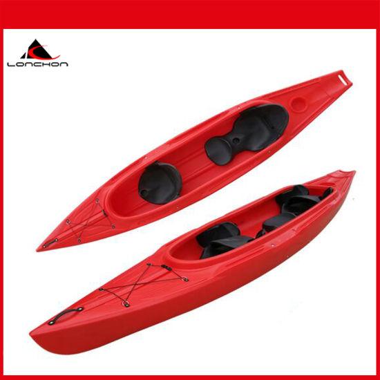 13FT 2 Person Pedal Kayak Cheap Plastic Kayak Sit in Kayak
