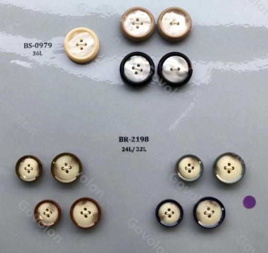 High Class Natural Round Horn Button