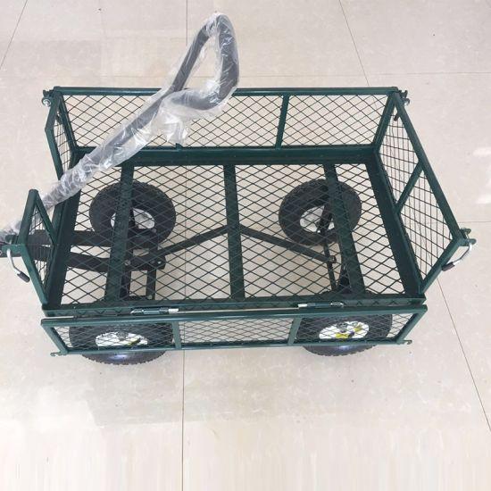 Portable Collapsible Garden Cart Folding Wheel Trolley Beach Cart