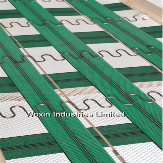 Green Colour Elastic Sofa Webbing With 3 Black Line In The Center