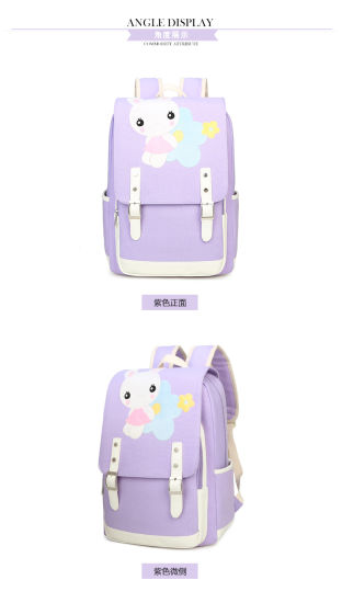2018 Polyester Promotion PU School Backpack Bag for Kids pictures & photos