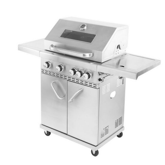 4+1 Burner Outdoor Full Stainless Steel Gas BBQ Grill