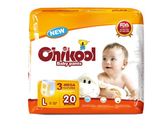 360 Disposable Pull on up Baby Diaper Training Pants with Discard Tape China