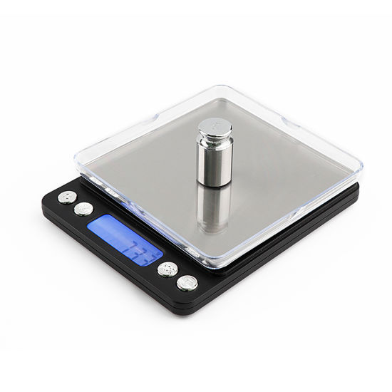 2kg Accurate Jewelry Balance Digital Weighing Pocket Scale with Blue Backlight