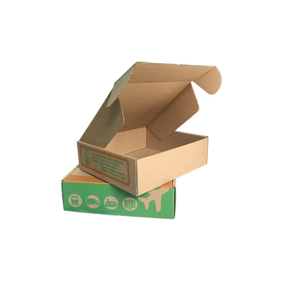 Cmyk Printed Apparel Packing Box Customized Corrugated Mailing Box