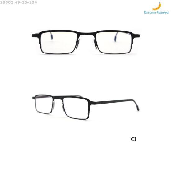 Classic Rectangular Wholesale Metal Optical Eyewear Reading Glasses for Men