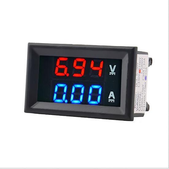 DC 100V 0~ 10A 50A 100A Voltmeter Ammeter LED Amp Dual Digital Volt Meter Gauge