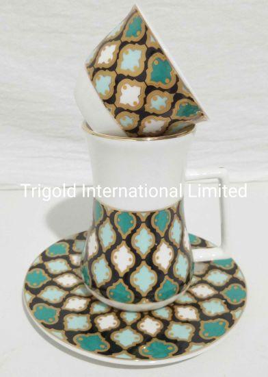 Turkish Tea Glasses and Saucers Set