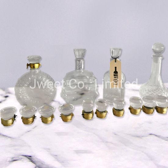 Wholesale Unique Shaped Liquor 500ml Glass Bottles with Cap