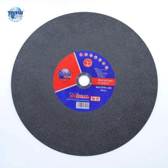 14inch 350mm 355mm Resin Bond Metal Steel Single Net Abrasive Cut-off Disc Cutting Wheel