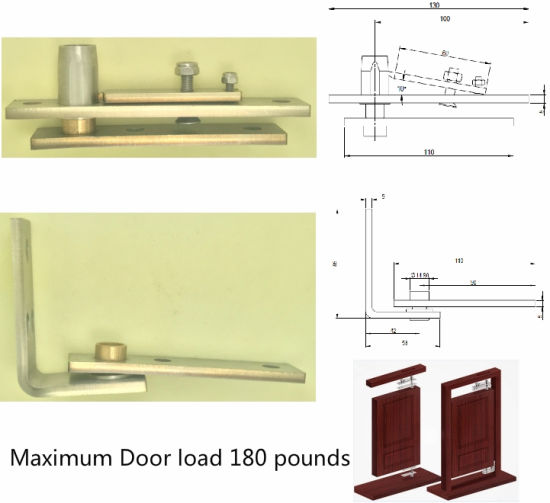 Double Action Door Pivot Set Maximum Door Load 80kg pictures & photos