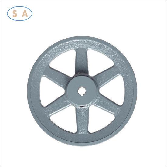 OEM Precision Machined Cast/Grey Iron Sand Casting Flywheel/Sprockets for Motor Machine
