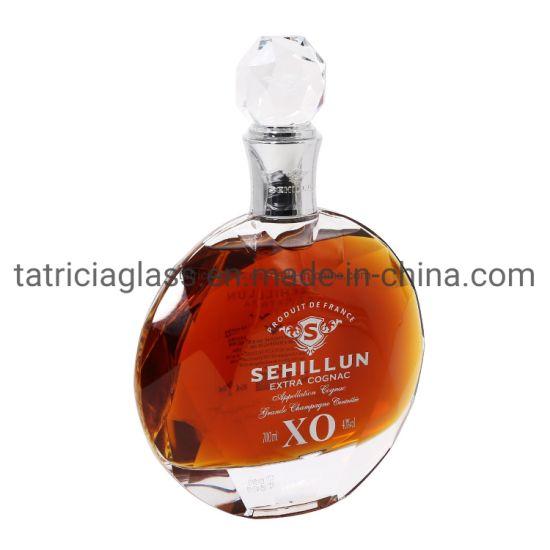Custom Wholesale 700ml Empty Clear Liquor Spirit/Spirits Wine Vodka Brandy Whisky Rum Glass Bottle
