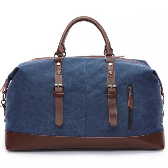 Vintage Cotton Duffle Custom Weekend Overnight Men Travel Canvas Duffel Bag