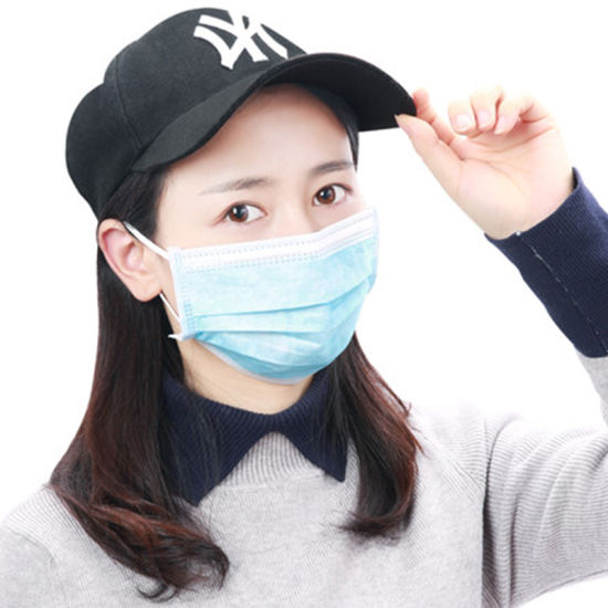 Disposable Anti-Dust Blue Non-Woven Protective Face Mask