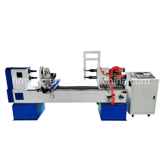 2 Axis 4 Knives CNC Wood Lathe Turning Engraving for Billiard Table Leg