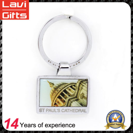 Customized Metal Keychain with Aluminium Printing Patch pictures & photos