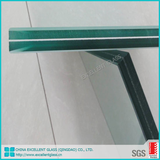 Qingdao Factory 6.38mm 8.38mm 10.38mm 12.76mm Building Glass Laminated Safety Glass