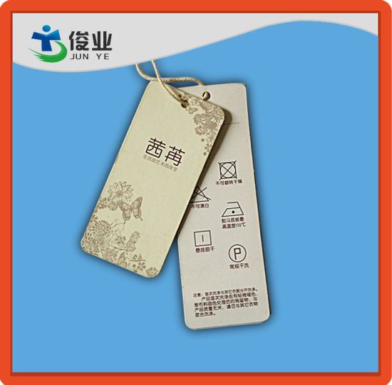Custom Paper Cardboard Garment Hang Tags with String pictures & photos