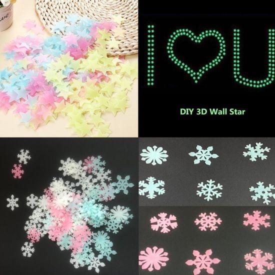 3D Stars Glow In The Dark Luminous Fluorescent Wall Stickers Room Decors