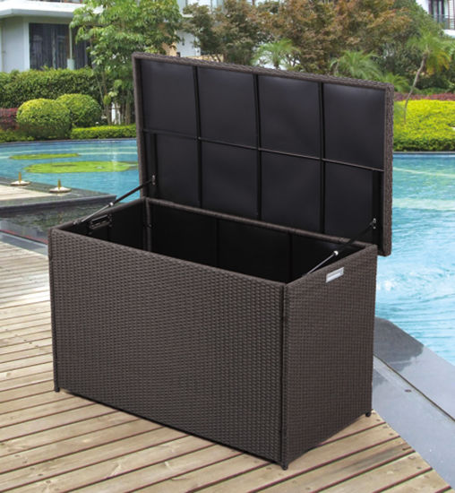 Superbe Wicker/Rattan Kd Cushion Box For Outdoor Furniture